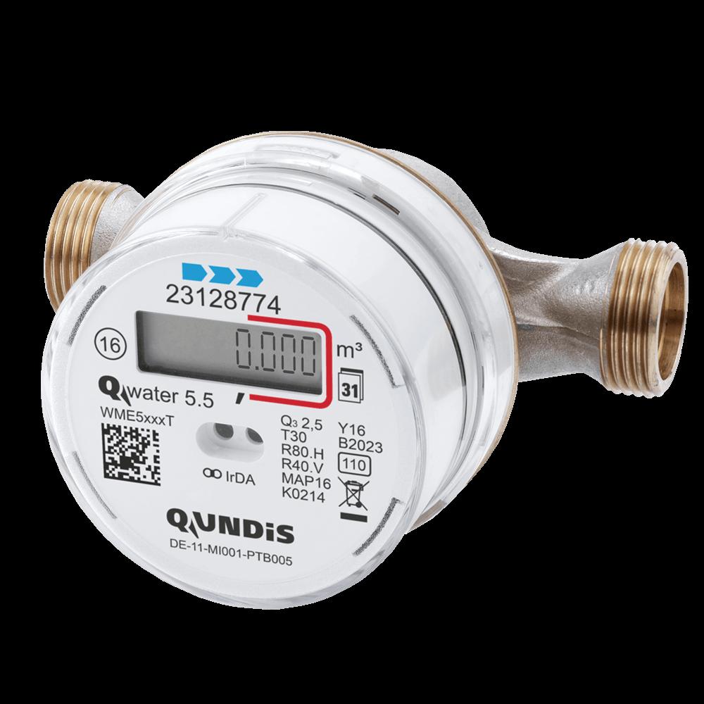 QUNDIS Elekt Wasserzaehler Verschraubung Kalt Qwater5.5